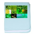 Green Photography Collage baby blanket