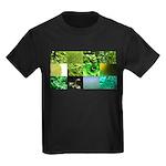 Green Photography Collage Kids Dark T-Shirt