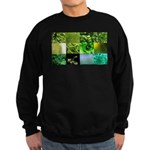 Green Photography Collage Sweatshirt (dark)