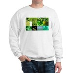 Green Photography Collage Sweatshirt
