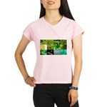 Green Photography Collage Performance Dry T-Shirt