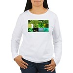 Green Photography Collage Women's Long Sleeve T-Sh