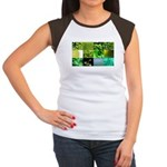 Green Photography Collage Women's Cap Sleeve T-Shi