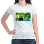 Green Photography Collage Jr. Ringer T-Shirt