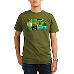 Green Photography Collage Organic Men's T-Shirt (d