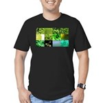 Green Photography Collage Men's Fitted T-Shirt (da