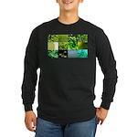 Green Photography Collage Long Sleeve Dark T-Shirt