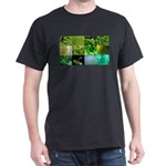 Green Photography Collage Dark T-Shirt