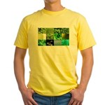 Green Photography Collage Yellow T-Shirt
