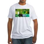 Green Photography Collage Fitted T-Shirt