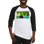 Green Photography Collage Baseball Jersey