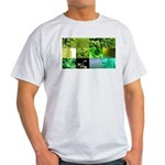 Green Photography Collage Light T-Shirt