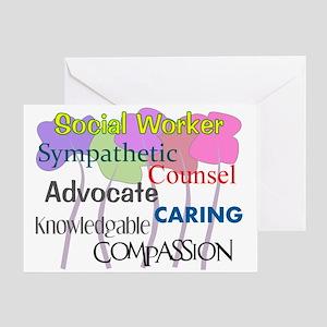 Social Worker Greeting Card