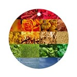 Rainbow Photography Collage Ornament (Round)