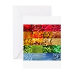 Rainbow Photography Collage Greeting Card