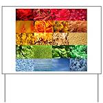 Rainbow Photography Collage Yard Sign