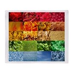 Rainbow Photography Collage Throw Blanket