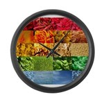 Rainbow Photography Collage Large Wall Clock