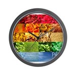 Rainbow Photography Collage Wall Clock