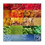 Rainbow Photography Collage Tile Coaster