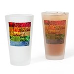 Rainbow Photography Collage Drinking Glass