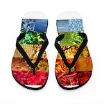 Rainbow Photography Collage Flip Flops