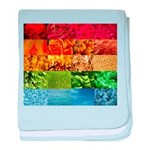 Rainbow Photography Collage baby blanket