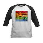 Rainbow Photography Collage Kids Baseball Jersey