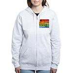 Rainbow Photography Collage Women's Zip Hoodie