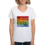Rainbow Photography Collage Women's V-Neck T-Shirt