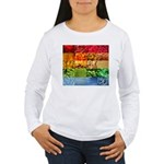 Rainbow Photography Collage Women's Long Sleeve T-