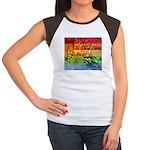 Rainbow Photography Collage Women's Cap Sleeve T-S