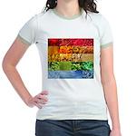 Rainbow Photography Collage Jr. Ringer T-Shirt
