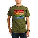 Rainbow Photography Collage Organic Men's T-Shirt