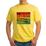 Rainbow Photography Collage Yellow T-Shirt