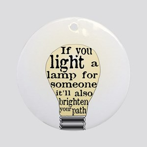 Inspiring saying - Help Thy N Ornament (Round)