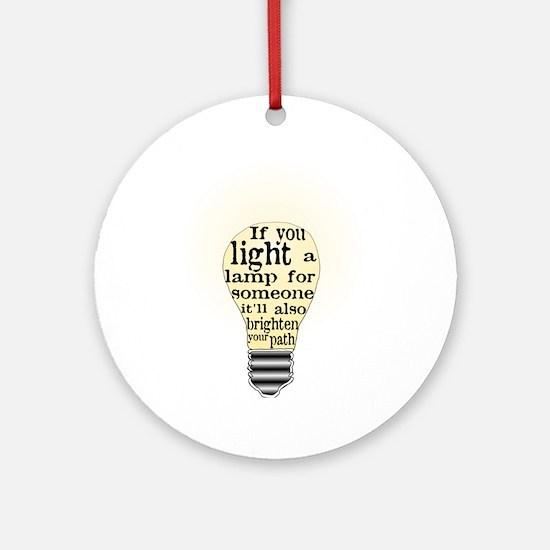 Inspiring saying - Help Thy N Ornament (Round)
