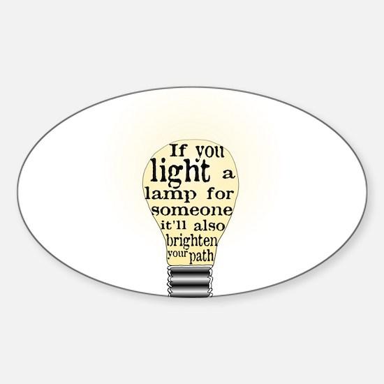 Inspiring saying - Help Thy N Sticker (Oval)