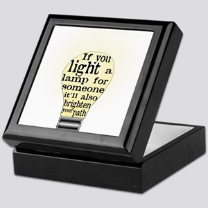 Inspiring saying - Help Thy N Keepsake Box