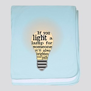 Inspiring saying - Help Thy N baby blanket