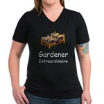Gardener Extraordinaire 2 Women's V-Neck Dark T-Sh