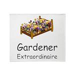 Gardener Extraordinaire 2 Throw Blanket