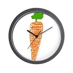 Welsh word for carrot - Moron Wall Clock