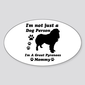 Great Pyrenees Mommy Sticker (Oval)