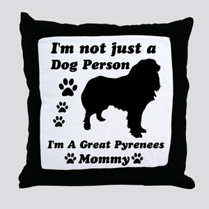 Great Pyrenees Mommy Throw Pillow
