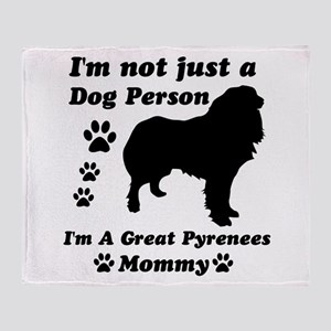 Great Pyrenees Mommy Throw Blanket