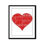 Follow Your Heart Red Typogra Framed Panel Print