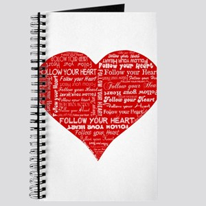 Follow Your Heart Red Typogra Journal