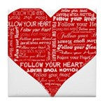 Follow Your Heart Red Typogra Tile Coaster