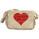 Follow Your Heart Red Typogra Messenger Bag